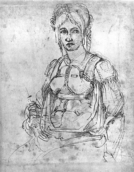 Portrait of Vittoria Colonna, c.1540 - Michelangelo