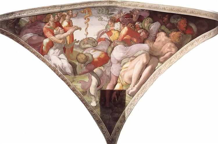 Sistine Chapel Ceiling: The Brazen Serpent, 1511 - Michelangelo