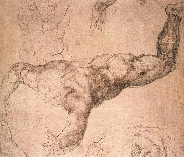 "Study for ""The Last Judgement"", c.1530 - Michelangelo"