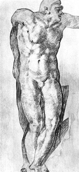 Study of a Nude Man - Michel-Ange