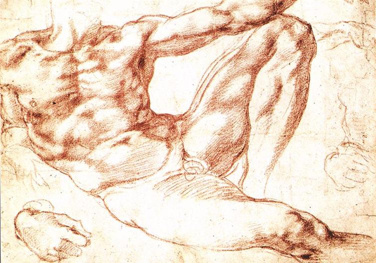 The Study of Adam, c.1508 - Michelangelo