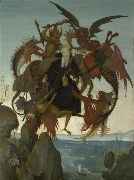 The Torment of Saint Anthony, c.1487 - Michelangelo