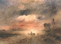 Dusty Country Road II - Mihály Munkácsy