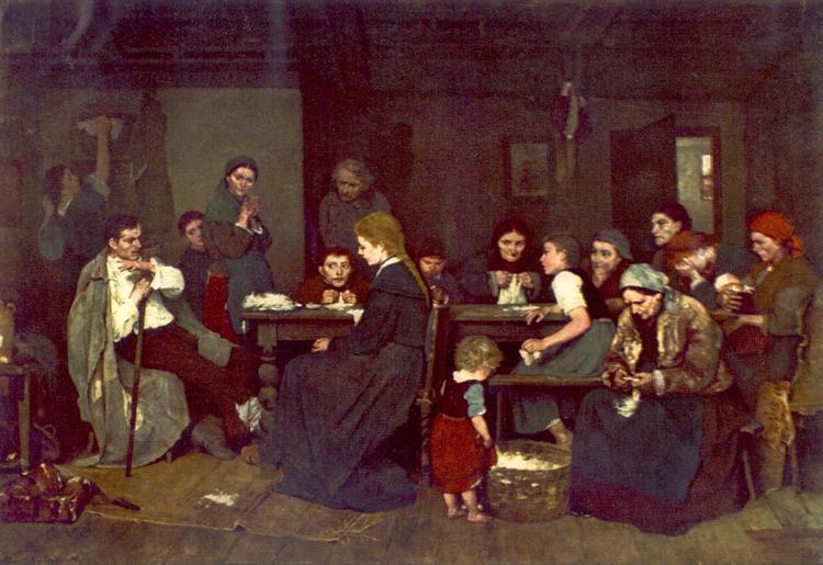 Making Lint, 1871 - Mihaly Munkacsy