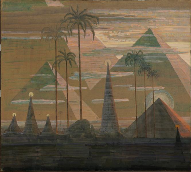 Andante (Sonata of the Pyramids), 1909 - Mikalojus Konstantinas Ciurlionis