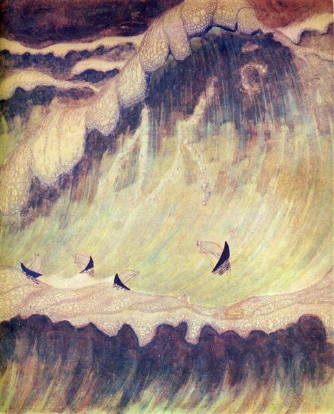 Finale (Sonata of the Sea), 1908 - Mikalojus Konstantinas Ciurlionis