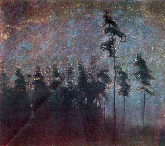 Forest, 1907 - Mikalojus Konstantinas Ciurlionis