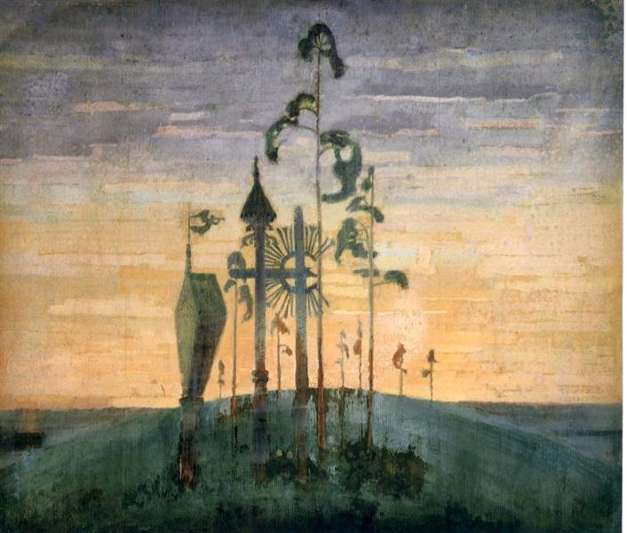 Graveyard Motif, 1909 - Mikalojus Konstantinas Ciurlionis