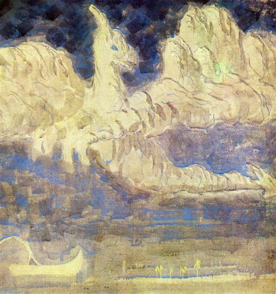 Journey of the Prince (II), 1907 - Mikalojus Konstantinas Ciurlionis