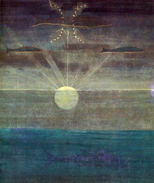 Pisces, 1907 - Mikalojus Konstantinas Ciurlionis