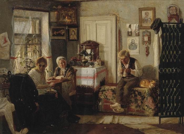 Home arrest, 1883 - Mikhail Nesterov