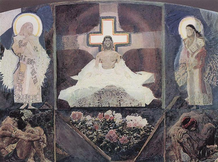 Resurrection, 1887 - Mikhail Vrubel