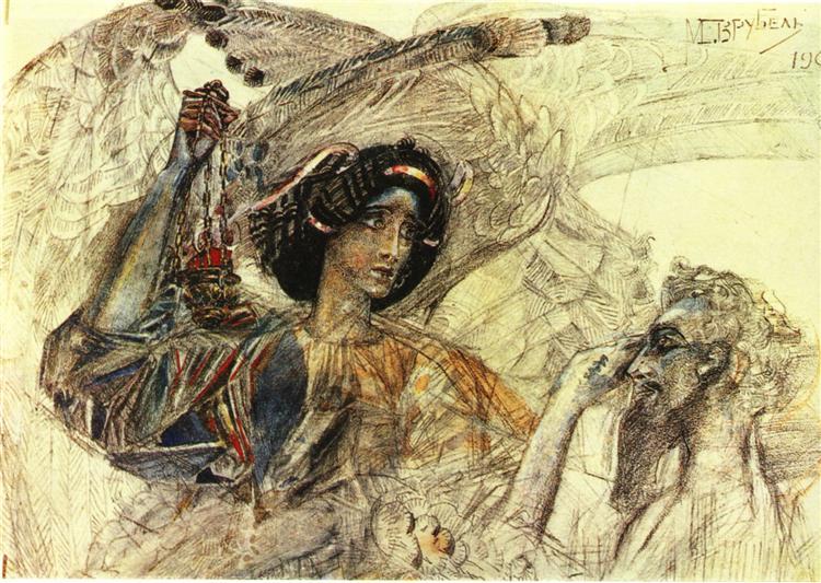 The Six Winged Seraph, 1905 - Mikhail Vrubel