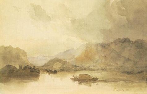 Lago Maggiore, 1834 - Miklós Barabás