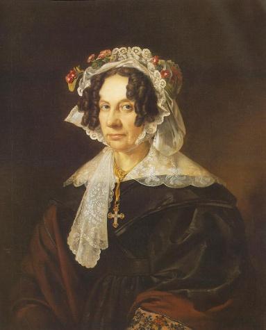 Portrait of Ms. Konkoly, 1837 - Miklós Barabás