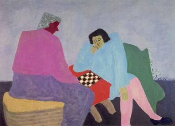 Checker Players - Milton Avery