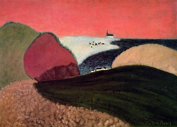 Gaspe Pink Sky, 1940 - Мільтон Евері