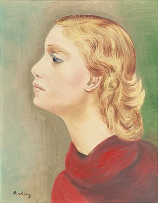 Bust of young woman left profile, 1930 - Moise Kisling