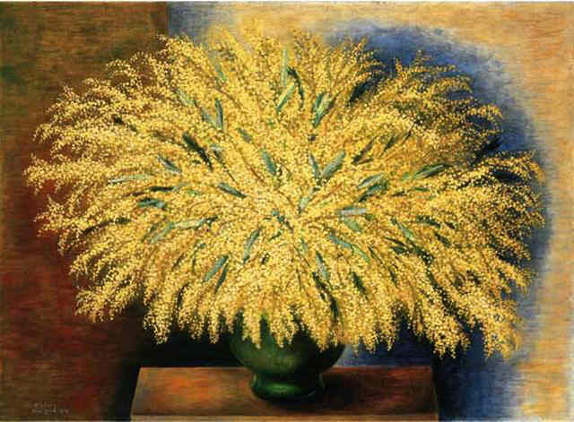 Grand bouquet of mimosa, 1942 - Moïse Kisling