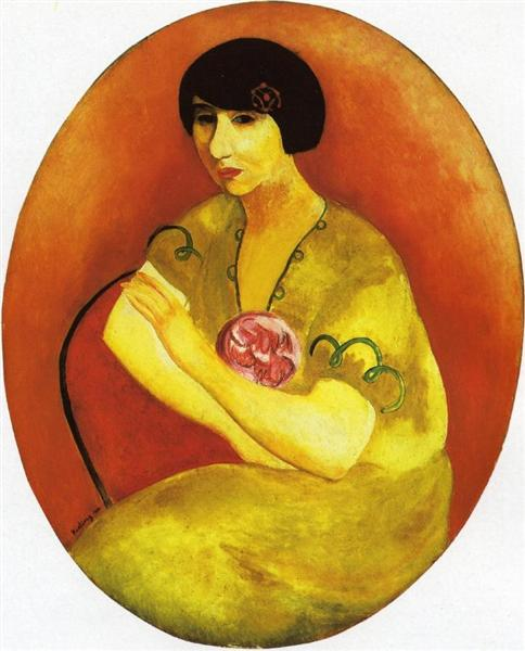 Portrait of madame Andre Salmon, 1919 - Moise Kisling