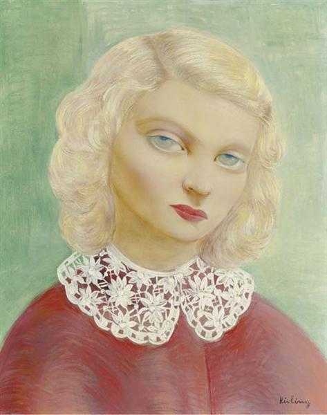 Portrait with a collar, 1938 - Moise Kisling