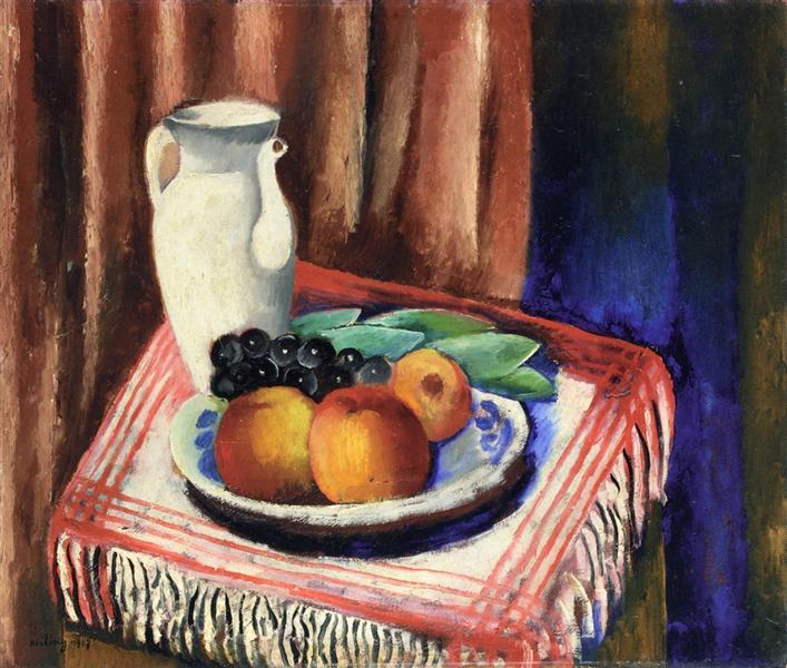 Still Life with Lemons, 1917 - Moise Kisling