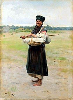 Fabric trading woman, 1901 - Mykola Pymonenko