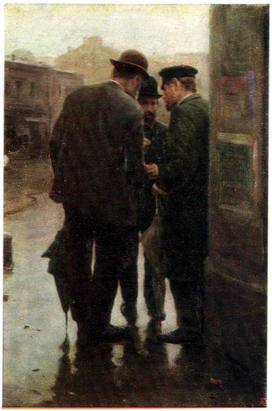 Conversation, c.1912 - Mykola Pymonenko