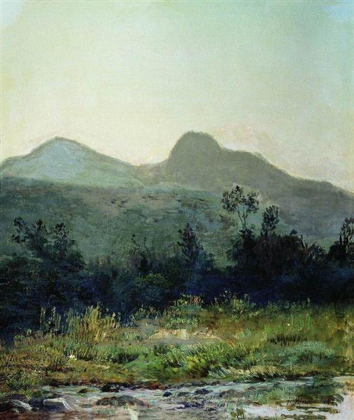 Mountain saddle in the vicinity of Kislovodsk, 1882 - Николай  Ярошенко