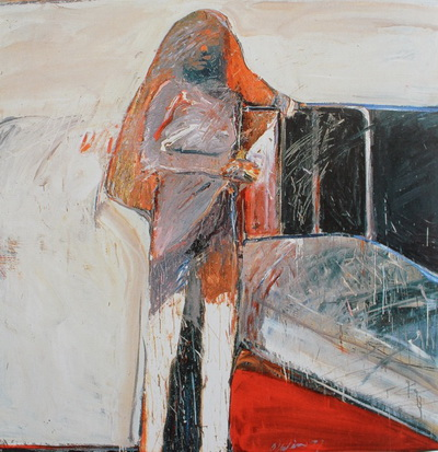 Adolescent by the Bed, 1959 - Nathan Oliveira