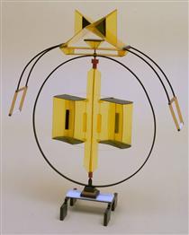 Model for 'Rotating Fountain' - Naum Gabo