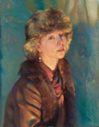 Girl with a Fur Hat - Nelson Shanks