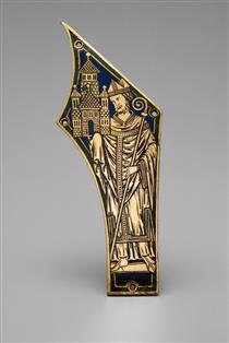 Plaque with Bishop - Nicholas of Verdun