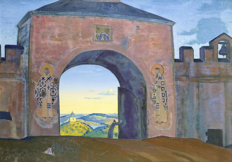 And we are opening the gates, 1922 - Nicholas Roerich