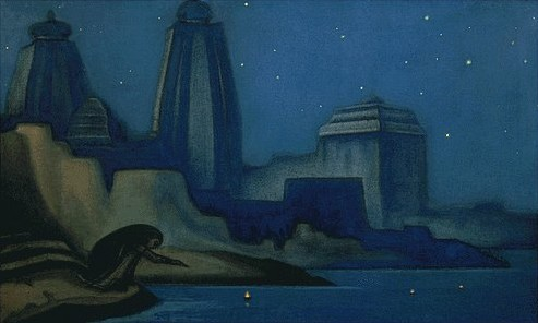 Lights on the Ganges, 1947 - Nicholas Roerich