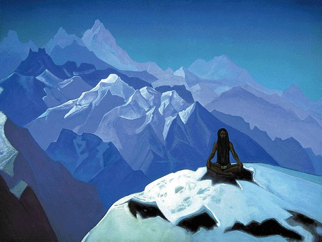 On the Heights (Tummo), 1936 - Nicholas Roerich