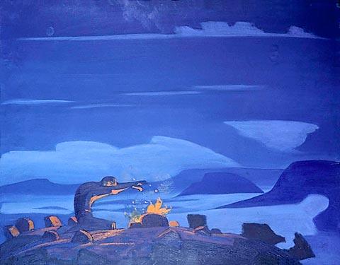 Spell words, 1922 - Nicholas Roerich