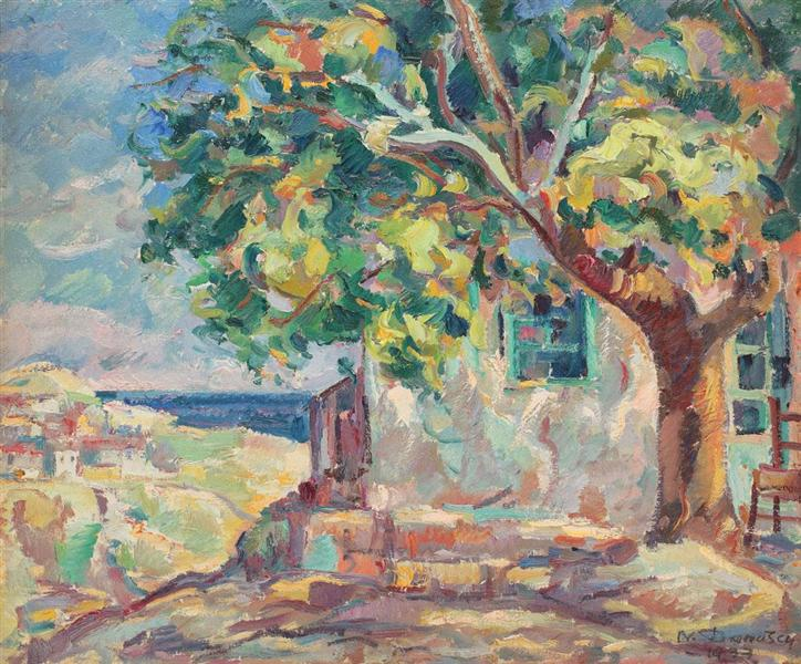 The House With Linden Tree from Balcic, 1933 - Nicolae Darascu