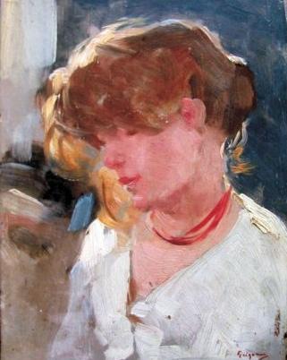 Peasant Woman Head, 1905 - Nicolae Grigorescu