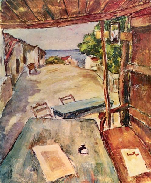 Cafe in Mangalia - Nicolae Tonitza