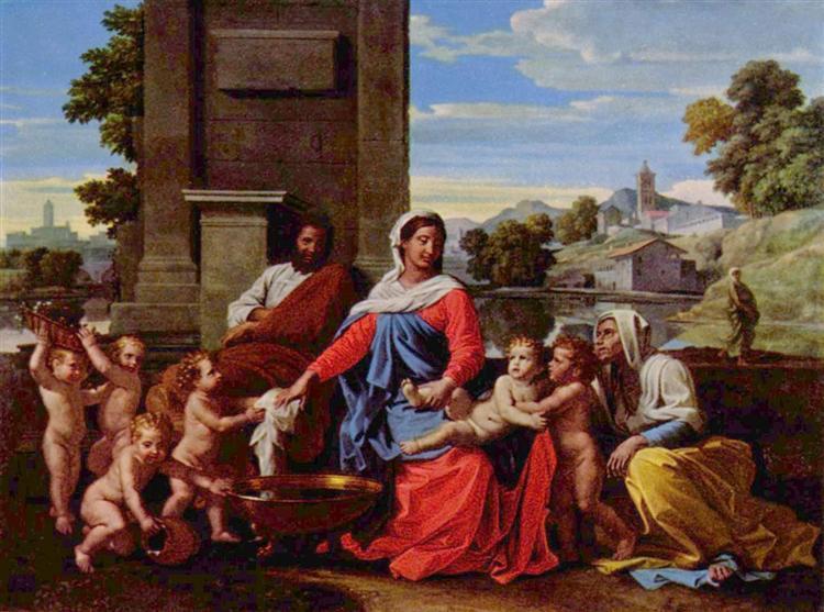 Holy Family, 1645 - 1650 - Nicolas Poussin