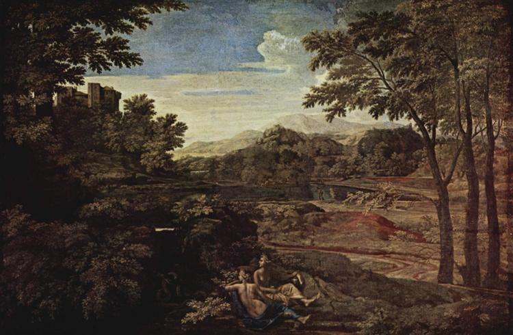 Landscape with a Man Killed by a Snake, 1648 - Nicolas Poussin
