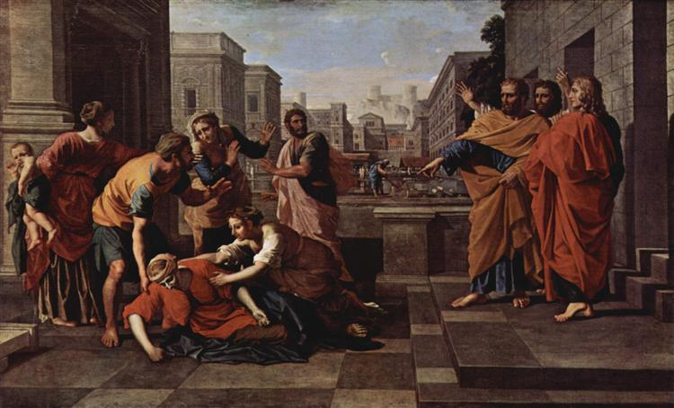 The Death of Saphire, 1654 - 1656 - Nicolas Poussin