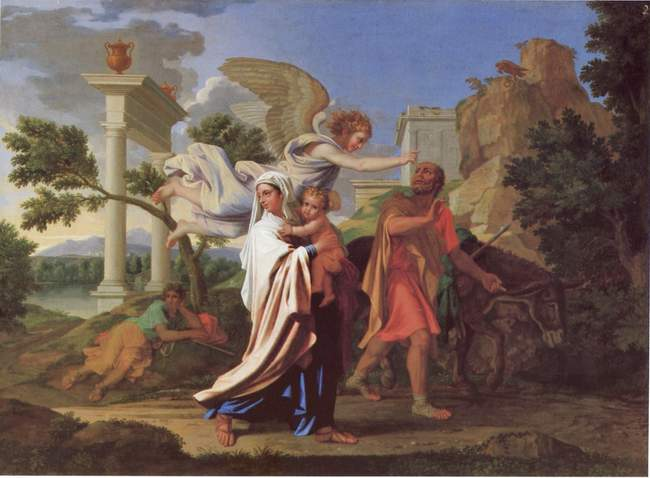 The Flight into Egypt - Nicolas Poussin