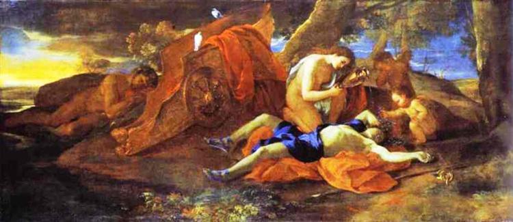 Венера оплакивет Адониса, c.1625 - Николя Пуссен