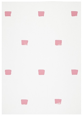 Imprints of a No. 50 Paintbrush Repeated at Regular Intervals of 30 cm., 1995 - Niele Toroni