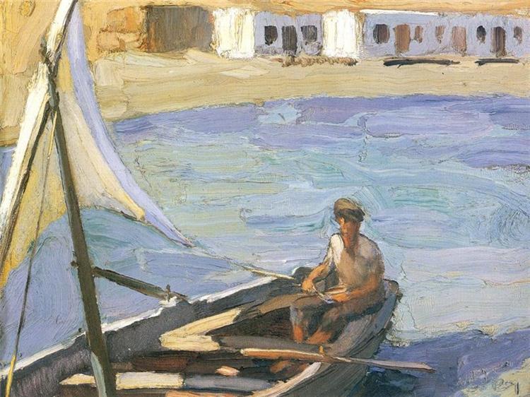 Boat with Sail (Panormos, Tinos), 1923 - 1926 - Nikolaos Lytras