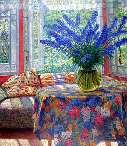 Vase Of Flowers In The Winter Garden, 1935   Nikolay Bogdanov Belsky