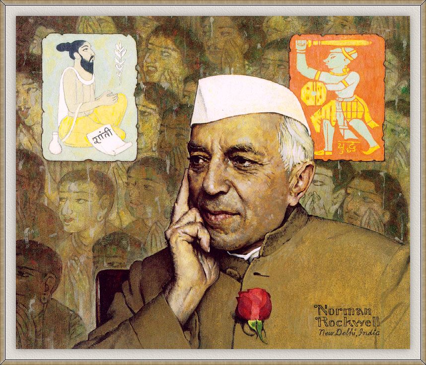 Portrait of Nehru