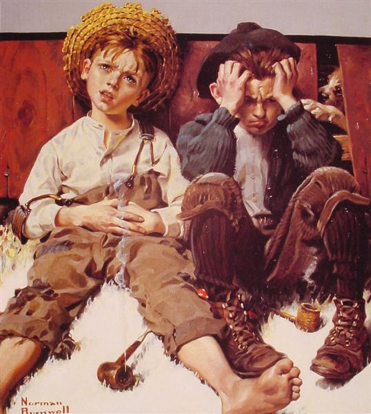 Retribution, 1920 - Norman Rockwell